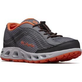 Columbia Drainmaker IV Shoes Kids graphite/tangy orange